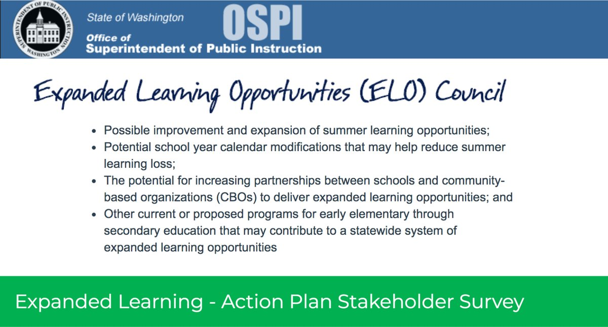 OSPI Expanded Learning Opportunities Council